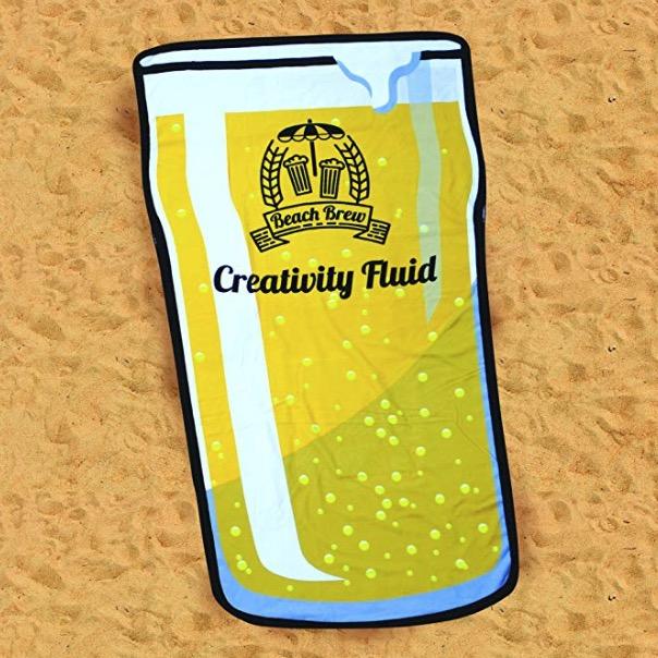 Cadeau serviette de bain bière