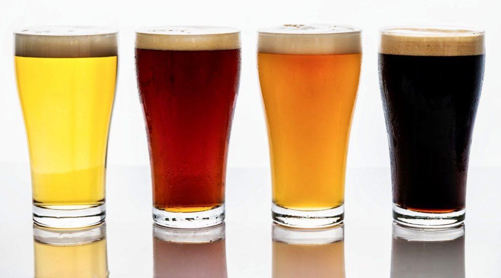 Couleurs bières blanche blonde rousse brune