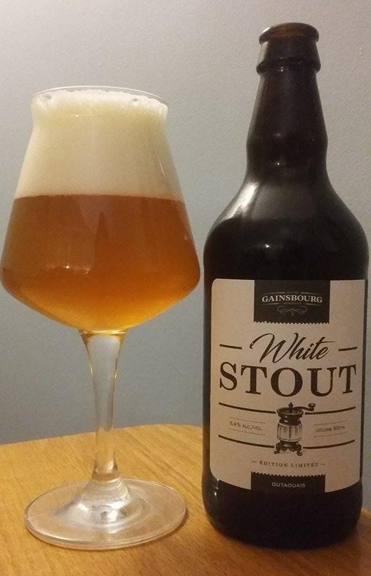 Couleurs bières white stout